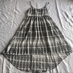 Black and White SOPRANO High Low Dress